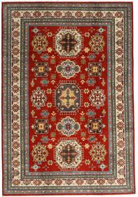 Kazak Teppe 201X293 Ekte Orientalsk Håndknyttet Mørk Rød/Mørk Grå (Ull, Afghanistan)