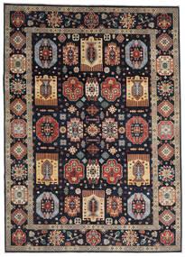 Kazak Teppe 252X349 Ekte Orientalsk Håndknyttet Mørk Blå/Lys Grå Stort (Ull, Afghanistan)