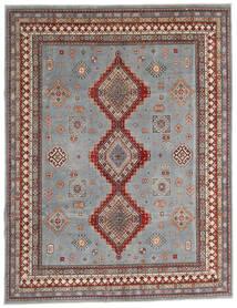 Kazak Teppe 245X318 Ekte Orientalsk Håndknyttet Lys Grå/Mørk Grå (Ull, Afghanistan)