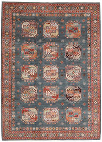 Kazak Teppe 247X339 Ekte Orientalsk Håndknyttet Mørk Rød/Mørk Grå (Ull, Afghanistan)