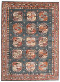 Kazak Teppe 252X345 Ekte Orientalsk Håndknyttet Lys Blå/Mørk Rød Stort (Ull, Afghanistan)