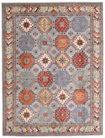 Kazak Teppe 258X338 Ekte Orientalsk Håndknyttet Lys Grå/Mørk Brun Stort (Ull, Afghanistan)