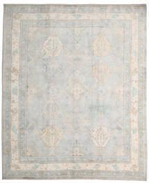 Kazak Teppe 245X296 Ekte Orientalsk Håndknyttet Lys Grå/Hvit/Creme (Ull, Afghanistan)