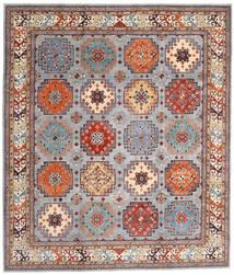 Kazak Teppe 254X294 Ekte Orientalsk Håndknyttet Lysbrun/Lys Grå Stort (Ull, Afghanistan)