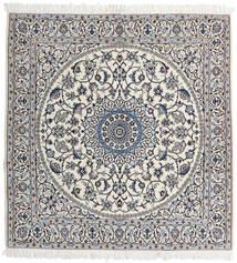 Nain 9La Teppe 147X153 Ekte Orientalsk Håndknyttet Kvadratisk Lys Grå/Beige (Ull/Silke, Persia/Iran)