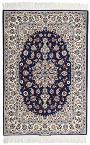 Isfahan Silkerenning Signert: Intashari Teppe 110X162 Ekte Orientalsk Håndknyttet Lys Grå/Mørk Lilla (Ull/Silke, Persia/Iran)