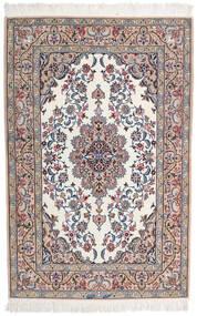Isfahan Silkerenning Signert Intashari Teppe 109X166 Ekte Orientalsk Håndknyttet Lys Grå/Hvit/Creme (Ull/Silke, Persia/Iran)