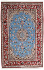 Isfahan Silkerenning Teppe 164X256 Ekte Orientalsk Håndknyttet Lys Grå/Mørk Brun (Ull/Silke, Persia/Iran)