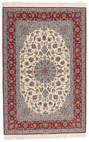 Isfahan Silkerenning Signert Entashari Teppe 161X241 Ekte Orientalsk Håndknyttet Beige/Lys Grå/Mørk Brun (Ull/Silke, Persia/Iran)