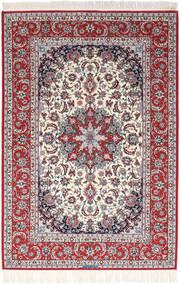 Isfahan Silkerenning Signert Exitashari Teppe 152X226 Ekte Orientalsk Håndknyttet Mørk Brun/Lys Grå (Ull/Silke, Persia/Iran)