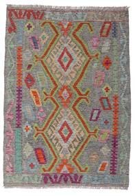 Kelim Afghan Old Style Teppe 100X141 Ekte Orientalsk Håndvevd Mørk Grå/Lys Grå (Ull, Afghanistan)