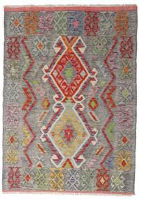 Kelim Afghan Old Style Teppe 103X144 Ekte Orientalsk Håndvevd Lys Grå/Lysbrun (Ull, Afghanistan)