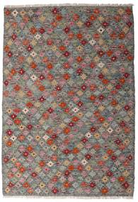 Kelim Afghan Old Style Teppe 107X155 Ekte Orientalsk Håndvevd Mørk Grå/Lys Grå (Ull, Afghanistan)