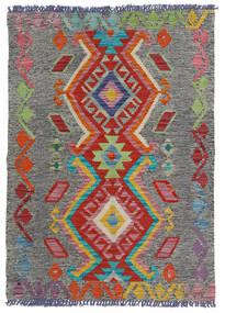 Kelim Afghan Old Style Teppe 80X114 Ekte Orientalsk Håndvevd Mørk Grå/Lys Grå (Ull, Afghanistan)