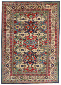 Kazak Teppe 200X282 Ekte Orientalsk Håndknyttet Mørk Rød/Mørk Grå (Ull, Afghanistan)