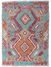 Kelim Afghan Old Style Teppe 88X121 Ekte Orientalsk Håndvevd Lys Grå/Brun (Ull, Afghanistan)