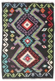 Kelim Afghan Old Style Teppe 75X113 Ekte Orientalsk Håndvevd Mørk Grå/Svart (Ull, Afghanistan)