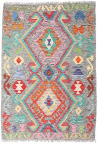 Kelim Afghan Old Style Teppe 86X124 Ekte Orientalsk Håndvevd Lys Grå (Ull, Afghanistan)