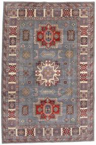 Kazak Teppe 195X292 Ekte Orientalsk Håndknyttet Lys Grå/Mørk Rød (Ull, Afghanistan)