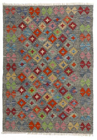 Kelim Afghan Old Style Teppe 80X113 Ekte Orientalsk Håndvevd Mørk Grå/Lys Grå (Ull, Afghanistan)