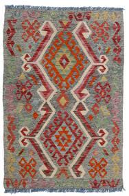 Kelim Afghan Old Style Teppe 80X118 Ekte Orientalsk Håndvevd Mørk Grå/Mørk Rød/Lys Grå (Ull, Afghanistan)