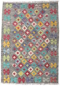 Kelim Afghan Old Style Teppe 82X115 Ekte Orientalsk Håndvevd Lys Grå/Mørk Grå (Ull, Afghanistan)