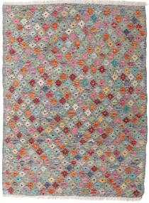 Kelim Afghan Old Style Teppe 87X117 Ekte Orientalsk Håndvevd Lys Grå/Mørk Grå (Ull, Afghanistan)