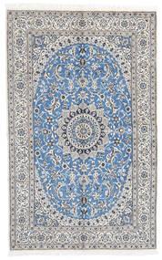 Nain 9La Teppe 160X258 Ekte Orientalsk Håndknyttet Lys Grå/Hvit/Creme (Ull/Silke, Persia/Iran)