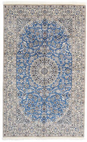 Nain 9La Teppe 156X252 Ekte Orientalsk Håndknyttet Lys Grå/Hvit/Creme (Ull/Silke, Persia/Iran)