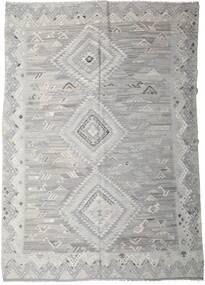 Kelim Ariana Teppe 256X357 Ekte Moderne Håndvevd Lys Grå Stort (Ull, Afghanistan)
