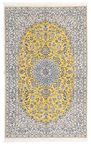 Nain 9La Teppe 158X248 Ekte Orientalsk Håndknyttet Lys Grå/Hvit/Creme (Ull/Silke, Persia/Iran)