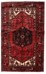 Hamadan Teppe 135X214 Ekte Orientalsk Håndknyttet Mørk Rød (Ull, Persia/Iran)