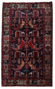Hamadan Teppe 131X213 Ekte Orientalsk Håndknyttet Mørk Rød (Ull, Persia/Iran)