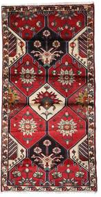 Hamadan Teppe 103X207 Ekte Orientalsk Håndknyttet Mørk Rød/Svart (Ull, Persia/Iran)