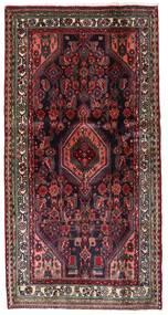 Hamadan Teppe 104X202 Ekte Orientalsk Håndknyttet Mørk Rød/Mørk Brun (Ull, Persia/Iran)