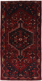 Hamadan Teppe 102X205 Ekte Orientalsk Håndknyttet Mørk Rød (Ull, Persia/Iran)
