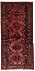 Hamadan Teppe 92X189 Ekte Orientalsk Håndknyttet Mørk Rød (Ull, Persia/Iran)