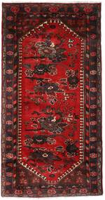 Hamadan Teppe 102X193 Ekte Orientalsk Håndknyttet Mørk Rød/Mørk Brun (Ull, Persia/Iran)