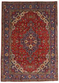 Tabriz Teppe 240X333 Ekte Orientalsk Håndknyttet Mørk Rød/Mørk Grå (Ull, Persia/Iran)