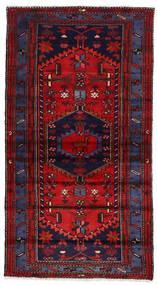 Hamadan Teppe 103X186 Ekte Orientalsk Håndknyttet Mørk Lilla/Mørk Rød (Ull, Persia/Iran)