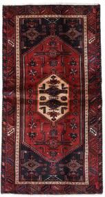 Hamadan Teppe 100X193 Ekte Orientalsk Håndknyttet Mørk Rød (Ull, Persia/Iran)