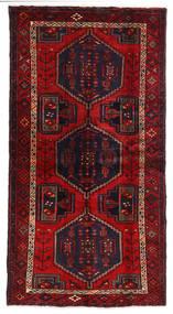 Hamadan Teppe 105X200 Ekte Orientalsk Håndknyttet Mørk Rød/Rust (Ull, Persia/Iran)