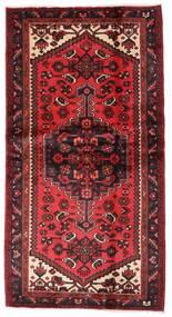 Hamadan Teppe 101X192 Ekte Orientalsk Håndknyttet Mørk Rød/Rust (Ull, Persia/Iran)