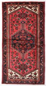 Hamadan Teppe 100X193 Ekte Orientalsk Håndknyttet Mørk Rød/Rust (Ull, Persia/Iran)
