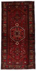 Hamadan Teppe 99X196 Ekte Orientalsk Håndknyttet Mørk Rød/Mørk Brun (Ull, Persia/Iran)