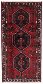 Hamadan Teppe 94X187 Ekte Orientalsk Håndknyttet Mørk Rød (Ull, Persia/Iran)