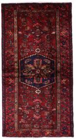 Hamadan Teppe 102X199 Ekte Orientalsk Håndknyttet Mørk Rød (Ull, Persia/Iran)