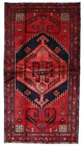 Hamadan Teppe 108X202 Ekte Orientalsk Håndknyttet Mørk Rød (Ull, Persia/Iran)