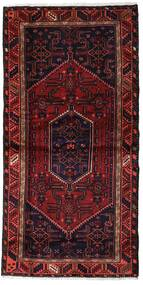 Hamadan Teppe 97X202 Ekte Orientalsk Håndknyttet Mørk Rød (Ull, Persia/Iran)