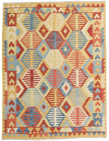 Kelim Afghan Old Style Teppe 153X200 Ekte Orientalsk Håndvevd Mørk Beige/Rød (Ull, Afghanistan)